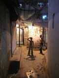 Streets of Kolkata. People live and work on the streets Stock Images