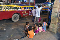 Streets of Kolkata stock image