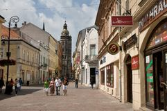 In the streets of Kosice -  Slovakia Royalty Free Stock Photography