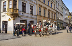 On the streets of Krakow Royalty Free Stock Photography