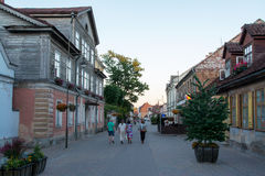 Streets of Kuldiga Royalty Free Stock Photo