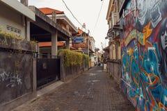 Streets of Kuta, bali Indonesia stock photo