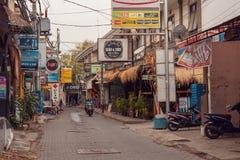 Streets of Kuta, bali Indonesia royalty free stock photography