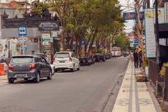 Streets of Kuta, bali Indonesia royalty free stock photo