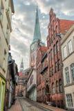 Streets of Lübeck Royalty Free Stock Photos