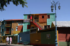 Streets of La Boca Stock Images