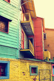 Streets of La Boca in Buenos Aires, Argentina with number of col Royalty Free Stock Photos