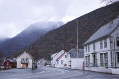 Streets of Laerdal. Norway. May 04, 2013 Royalty Free Stock Image