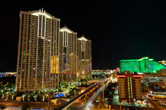 Streets of Las Vegas by night Royalty Free Stock Images