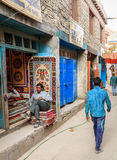 Streets of Leh Stock Photography
