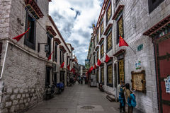 Streets of Lhasa, Tibet Royalty Free Stock Photography