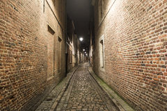 Streets of Lille at night Royalty Free Stock Image