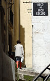 Streets of Lisbon. Lisbon royalty free stock photography