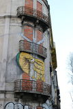 Streets of Lisbon - Portugal. Street Art in Lisbon - Portugal Royalty Free Stock Photos