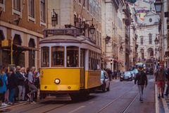 Streets of Lisbon, Portugal 2 royalty free stock photo