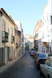 Streets of Lisbon - Portugal. Typical streets of Lisbon - Portugal Royalty Free Stock Photography