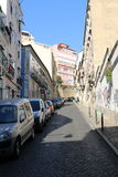 Streets of Lisbon - Portugal. Typical streets of Lisbon - Portugal Stock Images