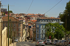 Streets of lisbon Stock Photography