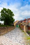 Streets of Loket old town Royalty Free Stock Photo
