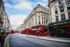 Streets of London with magnificent architectures and iconic skys Royalty Free Stock Photo
