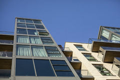 Streets of London - modern buildings. Royalty Free Stock Photo