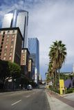 Streets in Los Angeles. High rise towers and street scape in Downtown Los Angeles, California Stock Image