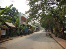 Streets in Luang Prabang. Royalty Free Stock Photos