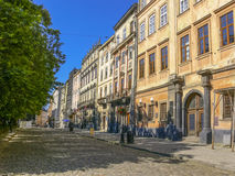 Streets of Lvov Stock Images
