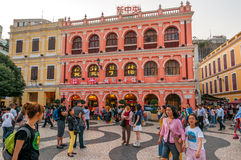 Streets of Macau Royalty Free Stock Photography