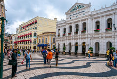 Streets of Macau Royalty Free Stock Photo