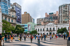 Streets of Macau Stock Image
