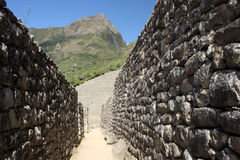 In streets of Machu Picchu Stock Photo