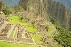On the streets of Machu Picchu. Royalty Free Stock Photography