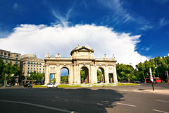 On the streets of  Madrid Royalty Free Stock Photos