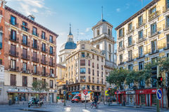In the streets of Madrid Stock Photography