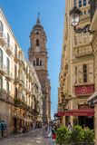 In the streets of Malaga in Spain Royalty Free Stock Images
