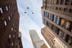 Streets of Manhattan Royalty Free Stock Photos
