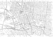 Streets of Melbourne, city map, Australia. Street map. Street map. Vector map of the city of Melbourne vector illustration