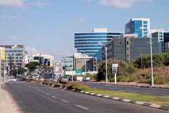Streets and modern building in Herzliya, Israel. Stock Photography