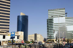 Streets and modern building in Tel Aviv,  Israel. Stock Photo