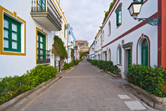 Streets of Mogan Gran Canaria Royalty Free Stock Photography