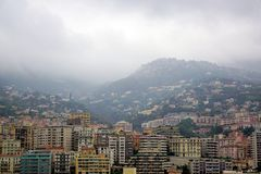 Streets of Monaco during dull day Royalty Free Stock Image