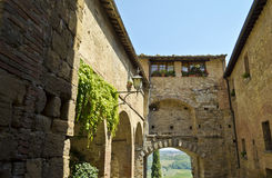 The streets of Montepulciano - Italy Royalty Free Stock Image