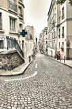 Streets of Montmartre. Royalty Free Stock Photos