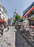 At the streets Montmartre Stock Photography