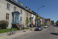 Streets in Montreal Stock Photography