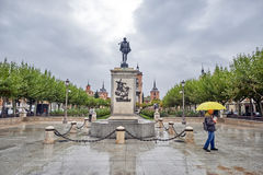 Streets, monuments and old buildings after the rain of the city Royalty Free Stock Images