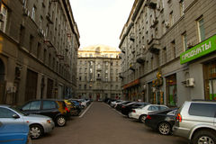 The streets of Moscow Stock Image