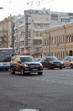 Streets of Moscow. Near metro Kursk Traffic Evening Autumn Royalty Free Stock Photos