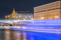 Streets by Moscow river. Stock Images